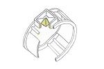 Entwurf Anfertigung Ring aus 585 Gelbgold mit quadratischem Citrinaus