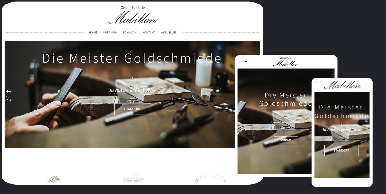 Coming soon: die neue Internetpräsenz von Goldschmiede Mabillon