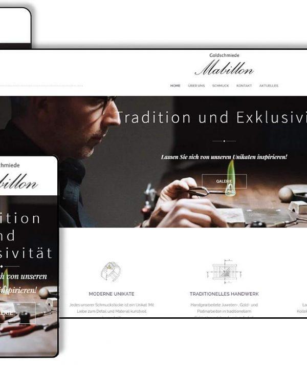Webseiten Relaunch Goldschmiede Mabillon